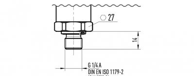 DIN 3852-E pressure connection thread
