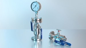 Combinação de instrumento de medição de pressão com acessórios – Montagem integrada ao invés de instrumentos isolados