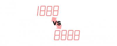 Digital indicators with different digits