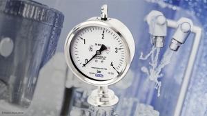Manômetro higiênico: Proteção IP68 apto para limpeza externa