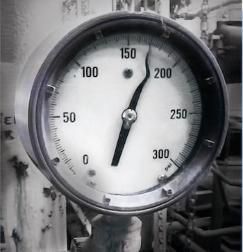 Efeito de picos de pressão em manômetros